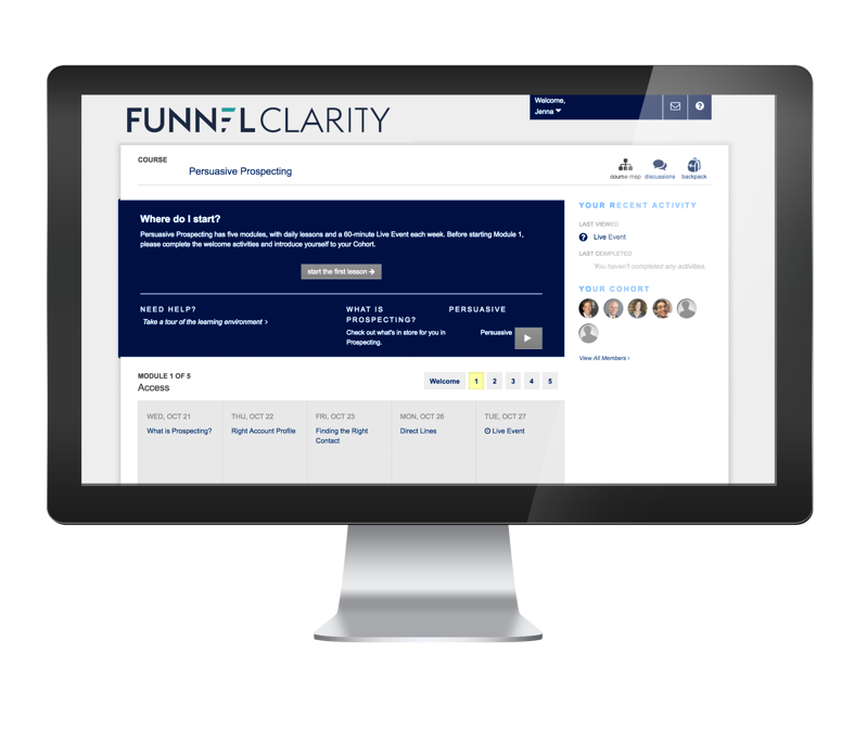 Prospecting Training by Funnel Clarity